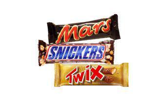 Батончик Марс, Твікс, Снікерс Марс 50 г, 51 г
