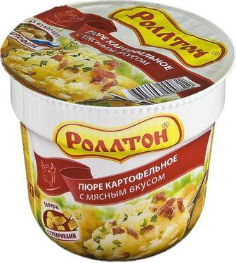 Пюре картофельное Сливки, Мясная, Курица Роллтон 37 г