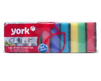 Губки для миття посуду York Midi 8×5×2,5 см 10 шт./уп
