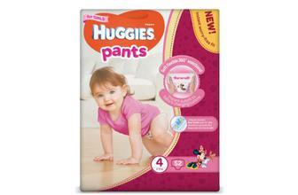 Підгузки-трусики Huggies Pants для дівчаток 4 (9-14 кг) 52шт./уп