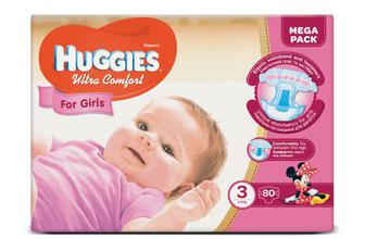 Підгузки Huggies Ultra Comfort для дівчаток 3 (5-9 кг) 80 шт
