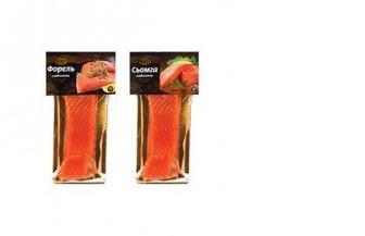 Семга/Форель слабосоленая филе кусок на коже, 240г, ЩЕ-Б-ПАК