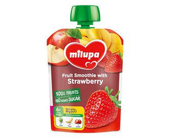Пюре Milupa, яблуко-банан-полуниця, 80г