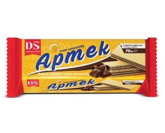 Вафлі «Домашнє свято» «Артек» смак шоколаду, 70г