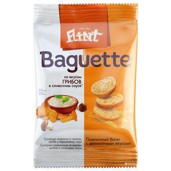 Сухарики зі смаком грибів у вершковому соусі Flint Багет 60г