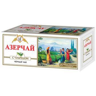 Чай Azercay чорний з чебрецем 25пак