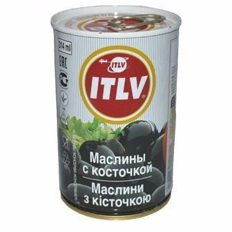 Маслини чорні з кісточкою ITLV 314мл