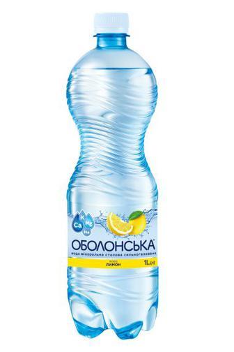 Вода газованаОболонська плюс лимон 1.5л