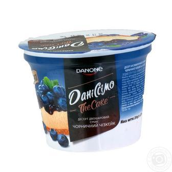 Десерт 6,4% чорничний чізкейк Даниссимо стакан 230г