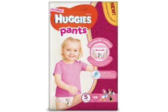 Підгузки-трусики Huggies Pants для дівчаток 5 (12-17 кг) 44шт./уп