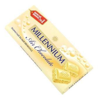 Шоколад пористий білий Миллениум, 90г