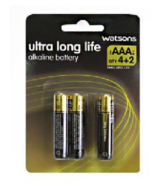 Батарейки AAA та AA,Watsons, уп*6шт