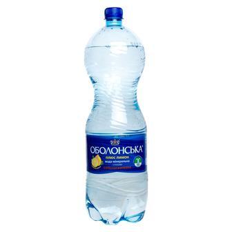 Вода минеральная Оболонь газ, лимон, 1 л