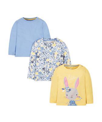 Кольорові футболки з довгими рукавами, від Mothercare