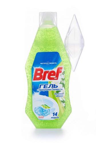 Освежитель для туалета Bref Гель Зелёное яблоко