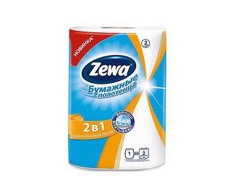 Рушники кухонні Zewa 2 в 1 1 рулон/уп