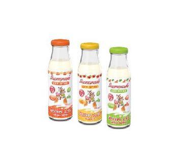 Йогурт 2,5 % Банан-гарбуз, персик, яблуко-морква Яготинське для дітей, 200 г