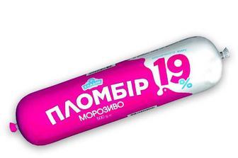 Морозиво Пломбір, 19% Хладик 500 г