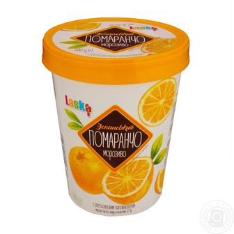 Морозиво Іспанський Помаранчо з апельсиновим наповнювачем Laska