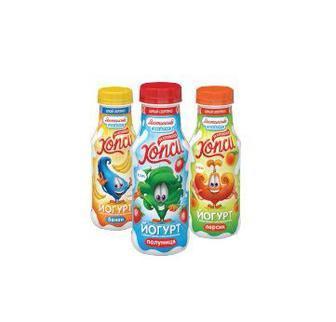 Йогурт Хопсі Банан/персик Полуниця 1,5% Яготинське для дітей