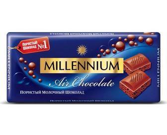 Шоколад Милениум молочний пористый 90 г