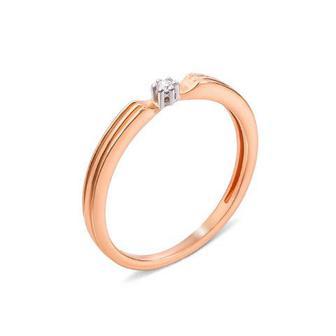 Золотое кольцо с бриллиантом. Артикул 53324/1.75