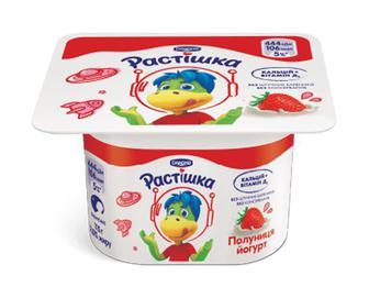 Йогурт «Растишка» з наповнювачем полуниця, 2% жиру, 115г