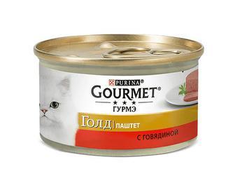 Корм для котів Gourmet Gold, паштет з яловичиною, 85г