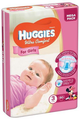 Підгузки Huggies Ultra Comfort Для дівчат/ для хлопчиків Розмір 3 (5-9 КГ) 80 шт