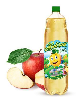 Напій Живчик Яблуко, вишня, апельсин Оболонь 1,5л