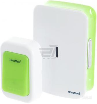 Дзвінок бездротовий HausMark білий із зеленим WSD-8532-GR14