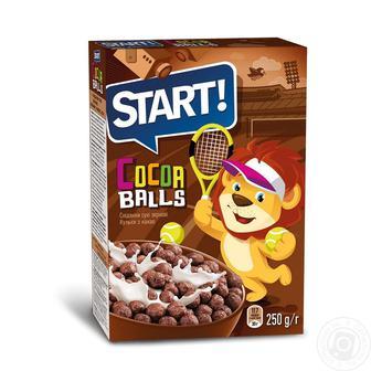 Сніданки сухі зернові з какао Старт 250г