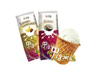 Морозиво «Фіджі» Банан-шоколад/ Кокос  Laska 70 г