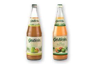 Сік прямого віджиму яблучний, яблучно-вишневий, яблучно-грушевий або яблучно- морквяний  Galicia 1 л