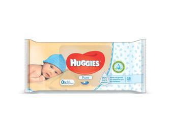 Серветки вологі Huggies Pure, 56 шт/.уп