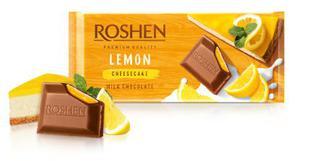 Шоколад молочний з начинкою Лимонний чизкейк Рошен 90г