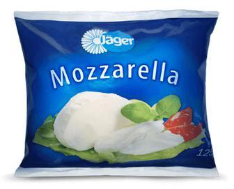 Скидка 34% ▷ Сир Jager «Моцарела» з коров'ячого молока, 45% жиру, 125 г