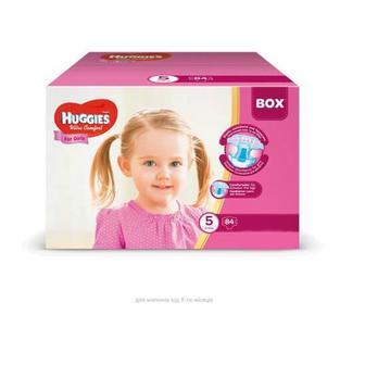 Підгузники Huggies Box UltraComfor д/дівч5 12-22кг, 84 шт,уп