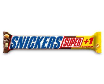 Батончик у молочному шоколаді з арахісом, Snickers Super, 112,5 г