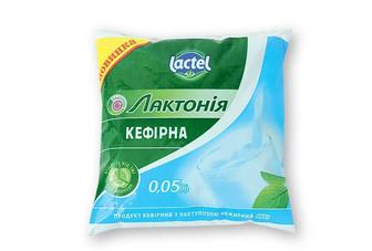 Продукт кефірний Лaктонія з лaктулозою, нежирний, 0,05% Lactel 400 г