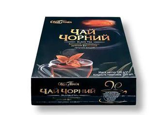 Чай чорний байховий цейлонський, дрібний, Своя Лінія 100 ф/п х 1,5 г