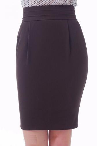 Коричневая юбка-тюльпан