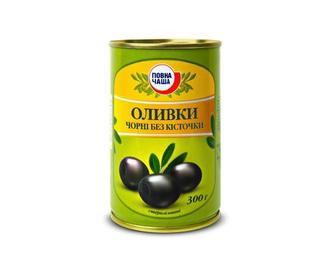 Оливки черные Повна Чаша 300г