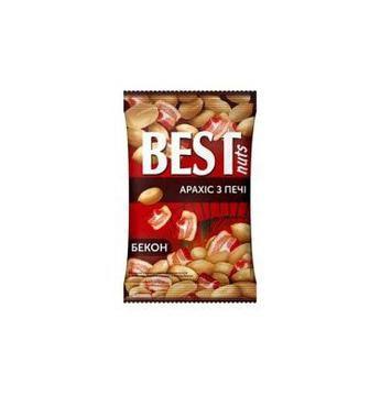 Ядра арахиса жареные соленые со вкусом бекона Best Nuts, 80г