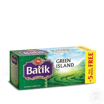 Чай зелений байховий дрібний Зелений острів Батік 20шт