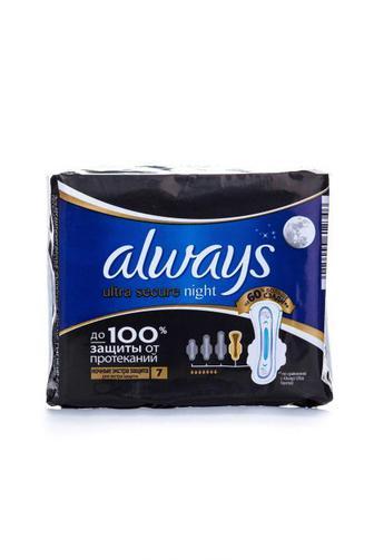 Прокладки для критических дней Always ultra night еxtra защиту, 7шт