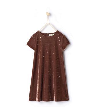 Велюрова сукня з аплікаціями 5767/745