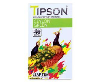 Чай зелений Tipson Leaf Tea цейлонський, 85г