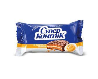 Печиво Konti «Cупер Контік» зі згущеним молоком, 100 г
