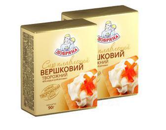 Сыр плавленый Сливочный 45% Добряна 90 г